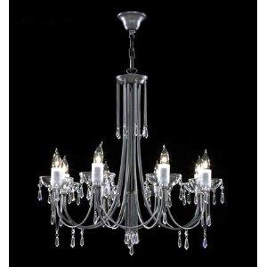 Crystal Italia Eight Light Chandelier - James R. Moder