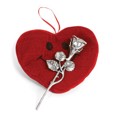The Valentine Kissing Rose W/ Heart