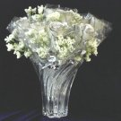 "1 Dozen Diamond White 11"" Silver Roses"