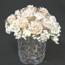 "One Dozen 8"" All Silver Roses with Vase"