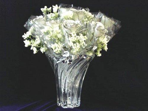 """Twenty 11"""" All Platinum Roses"""