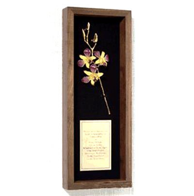 The 3 Bud Orchid Wedding Invitation Remembrance Box