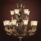Regency 15 Light Large Foyer Chandelier in Burnt Bronze