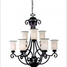 ENERGY STAR Nine-Light Acadia Two-Tier Chandelier