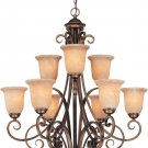 Medici 9 Light Chandelier by Dolan Lighting