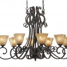 Golden Lighting Meridian Eight-Light Chandelier