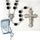 Men's Black Crystal Rosary