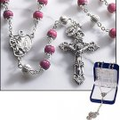 Pink Marble Rosary