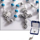 Light Blue Marble Rosary