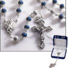 Dark Blue Marble Rosary