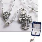 Clear Diamond Cut-Crystal Rosary