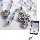 Sapphire Diamond-Cut Crystal Rosary