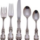 Burgundy Sterling Silver 66-Piece Flatware Set.