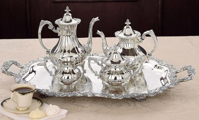 Loveland Rose Silverplated Tea & Coffee Set
