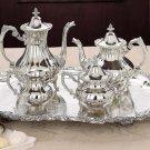 Loveland Rose Silverplated Tea & Coffee Set