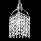 Tekno Golf Imperial Crystal Mini Pendant Light Fixture, Silver