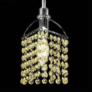 Tekno Golf Imperial Crystal Mini Pendant Light Fixture, Topaz