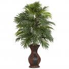 Areca Palm w/Urn Silk Plant