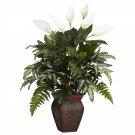 Mixed Greens & Spathyfillum Silk Plant