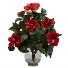 Hibiscus Silk Flower Arrangement