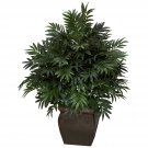 Triple Bamboo Palm Silk Plant