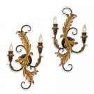 Currey and Company 2 Light Panache Wall Sconce Pair