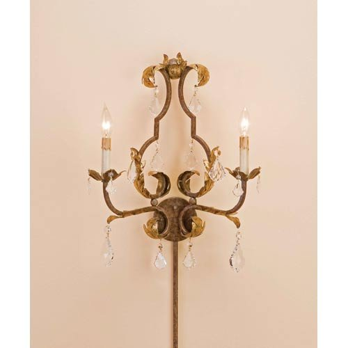 Currey and Company 2 Light Tuscan Wall Sconce