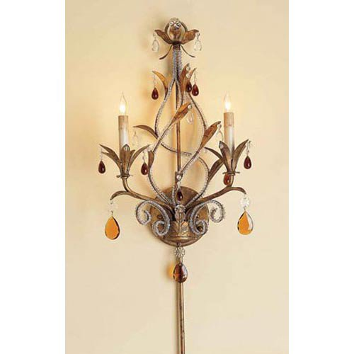 Currey and Company 2 Light Isabella Wall Sconce