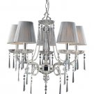 Light Princess Chandelier, Polished Silver