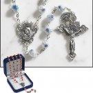 Light Blue Murano Rosary