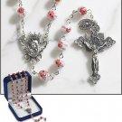 Pink Murano Rosary