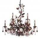 Cristallo Fiore Nine Light Chandelier by Elk Lighting