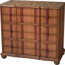 """38"""" Tangerine Stripe Chest by Sterling Industries"""