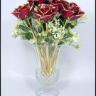 "Twelve 11"" Real Roses."