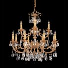 Etta Ornate Cast Brass Chandelier