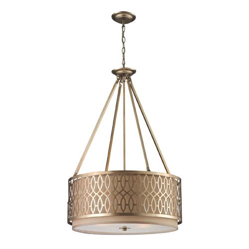 Elk Lighting Estonia Five-Light Pendant in Aged Silver