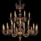 Crystorama Oxford 25 Light Two Tier Chandelier Olde Brass