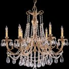 Etta Swarovski Crystal Chandelier Lighting, 6 Light