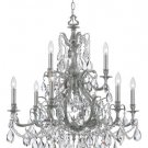 Dawson - Nine Light 2-Tier Chandelier PW-CL-MWP by Crystorama Lighting