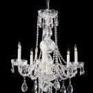 Crystal 5 Light Up Lighting Single Tier Chandelier in Polished Chrome 1115
