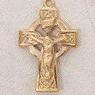 Gold Celtic Crucifix