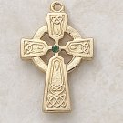 Green Emerald Celtic Cross