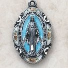Silver/Blue Miraculous Medal