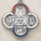 Silver Military 4-Way Medal