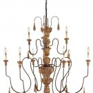Currey & Company 9 Light Mansion Medium Chandelier
