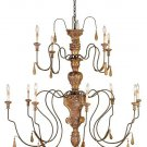 Currey & Company 12 Light Mansion Large Chandelier