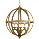 Currey & Company Axel Orb - Four Light Chandelier