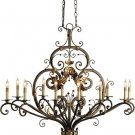 Currey & Company 12 Light Dominion Oval Chandelier