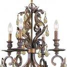 Crystorama Lighting Mini Chandelier in Florentine Bronze
