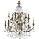 Crystorama Regis 12 light Crystal Chandelier in English Bronze